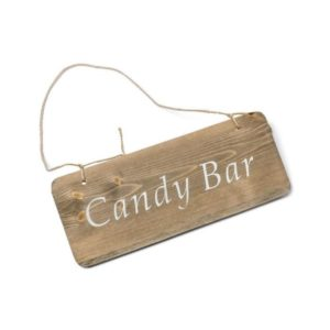 Pancarte candy bar